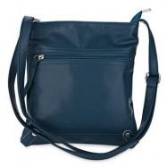 image of GUAPABIEN PU LEATHER SOLID COLOR RECTANGLE LIGHT WEIGHT SHOULDER BAG (BLUE) -