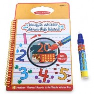image of MAGIC WATER DRAWING BOOK INTIMATE PAINTING BOARD WITH PEN EDUCATIONAL TOY FOR KID - NUMBER (COLORMIX) -