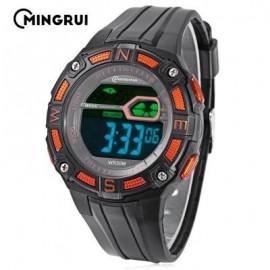 image of MINGRUI MR - 8581103 KIDS DIGITAL CALENDAR 3ATM WRISTWATCH (SWEET ORANGE) 0