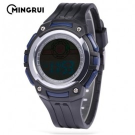image of MINGRUI MR - 8547079 KIDS DIGITAL MOVT WATCH LED LIGHT DATE DAY CHRONOGRAPH 3ATM WRISTWATCH (DEEP BLUE) 0