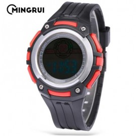 image of MINGRUI MR - 8547079 KIDS DIGITAL MOVT WATCH LED LIGHT DATE DAY CHRONOGRAPH 3ATM WRISTWATCH (RED) 0