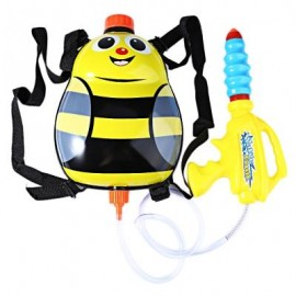 image of KIDS CUTE LADYBIRD OUTDOOR SUPER SOAKER BLASTER BACKPACK PRESSURE SQUIRT POOL TOY (YELLOW) -