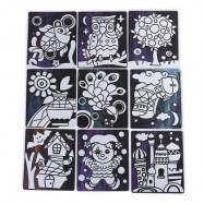 image of MAGIC PAPER STICKER HANDMADE TOY FOR CHILDREN (COLORFUL) -