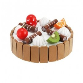 image of MAGNETIC MINI CREAM FRUITS CAKE CHILDREN PRETEND TOY (COLORMIX) 0
