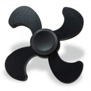 image of STRESS RELIEF TOY EDC METAL FIDGET SPINNER (BLACK) 7*7*1.3CM