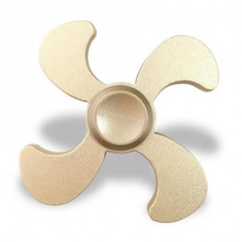 image of STRESS RELIEF TOY EDC METAL FIDGET SPINNER (GOLDEN) 7*7*1.3CM