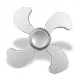 image of STRESS RELIEF TOY EDC METAL FIDGET SPINNER (SILVER) 7*7*1.3CM