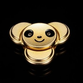 image of PANDA PATTERN METAL FINGER GYRO STRESS RELIEF TOY (LUXURY GOLD COLOR) 6*6CM
