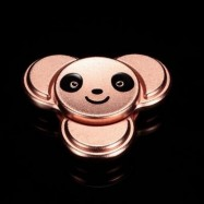 image of PANDA PATTERN METAL FINGER GYRO STRESS RELIEF TOY (ROSE GOLD) 6*6CM