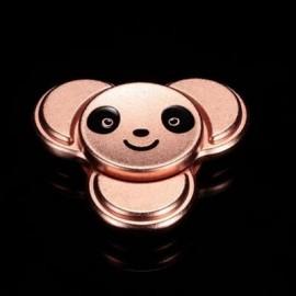 image of PANDA PATTERN METAL FINGER GYRO STRESS RELIEF TOY (ROSE GOLD) 6*6CM