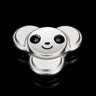 image of PANDA PATTERN METAL FINGER GYRO STRESS RELIEF TOY (SILVER) 6*6CM