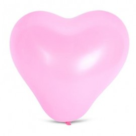 image of 100PCS HEART SHAPE LATEX BALLOON WEDDING FESTIVAL DECOR (PINK) -