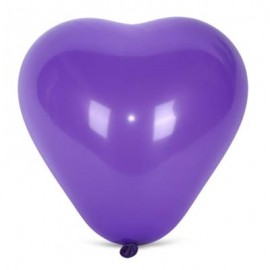 image of 100PCS HEART SHAPE LATEX BALLOON WEDDING FESTIVAL DECOR (PURPLE) -