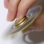 FAKE CRYSTAL EMBELLISHED STRESS RELIEF GYRO FIDGET SPINNER (GOLDEN) -