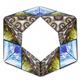 image of 8868 NOVELTY TRANSFORMING GEOMETRIC MAGNETIC MAGIC CUBE (M COFFEE) 0