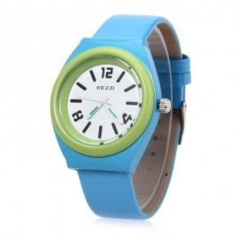 image of KEZZI K681 CHILDREN QUARTZ WATCH WATER RESISTANCE LEATHER BAND WRISTWATCH (BLUE) 0