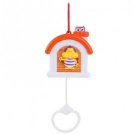 image of BABY BED BELL ANIMAL ROTATION MUSICAL BOX CRIB TOY (RED) -