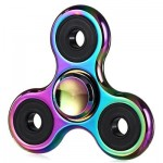 ZINC ALLOY TRI-WING RAINBOW COLOR FIDGET SPINNER STRESS RELIEF PRODUCT FIDGETING TOY (COLORFUL) -
