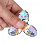 THREE-LEAF RAINBOW ZINC ALLOY FIDGET SPINNER WITH CROSS STRESS RELIEF PRODUCT RELAXATION GIFT FOR ANXIETY (COLORMIX) -