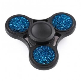 image of ANTI-STRESS TOY GLITTER FIDGET METAL SPINNER (BLUE) -