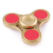 image of ANTI-STRESS TOY GLITTER FIDGET METAL SPINNER (GOLDEN) -