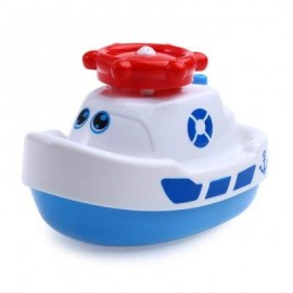 image of BABY ROTARY AUTOMATIC ELECTRIC SPRINKLER STEAMBOAT SWIMMING BATH TOYS (WHITE) -
