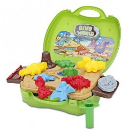 image of BOWA KIDS PLAY SET DOUGH SUITCASE TOY POTABLE IN CARRYING (COLORMIX) 0
