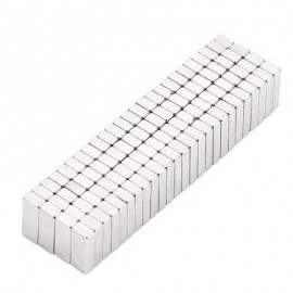 image of 100PCS 8 X 3 X 2MM MAGIC MAGNET DIY SUPER STRONG MAGNETIC TOY (SILVER) -