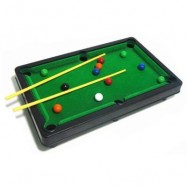 image of MINI CHILDREN BILLIARD POOL SET FLOCKING SIMULATION DESKTOP (IVY) 0