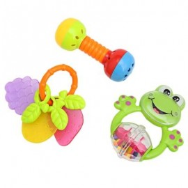 image of 3PCS BABY COLORFUL HAND SHAKE BELL RING RATTLE FEEDER EDUCATIONAL TOY (#3) -