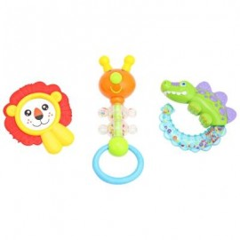 image of 3PCS BABY COLORFUL HAND SHAKE BELL RING RATTLE FEEDER EDUCATIONAL TOY (#4) -