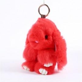 image of PLUSH BUNNY BACKPACK KEY PENDANT (RED) 0