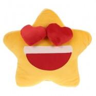 image of CUTE STAR SHAPE PLUSH STUFFED PILLOW BED SOFA DECORATION (YELLOW) 0