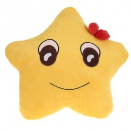 image of CUTE STAR SHAPE PLUSH STUFFED PILLOW BED SOFA DECORATION (YOLK YELLOW) 0