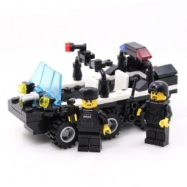 image of KIDS ADULT EDUCATIONAL TOY BUILDING BRICKS SWAT PATROL ARMORED CAR BLOCKS ASSEMBLED GIFT (COLORMIX) 0