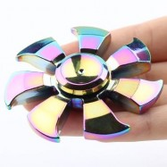 image of STRESS RELIEF TOY RAINBOW WHEEL FIDGET HAND SPINNER (COLORFUL) 6.5*6.5*1.5CM