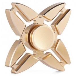 image of FOUR-POINTED STAR GYRO STRESS RELIEVER PRESSURE REDUCING TOY FOR OFFICE WORKER (GOLDEN) -