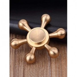 image of STRESS RELIEF TOY METAL RUDDER FIDGET SPINNER (COPPER COLOR) -