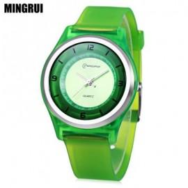 image of MINGRUI MR - 8823 KIDS QUARTZ WATCH 30M WATER RESISTANCE PLASTIC STRAP WRISTWATCH (GREEN) 0