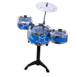 image of JAZZ ROCK DRUMS SET KIDS TOY MUSICAL INSTRUMENT CHRISTMAS BIRTHDAY PRESENT (BLUE) -