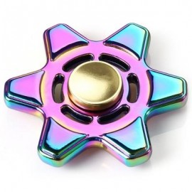 image of METAL FIDGET SPINNER COLORFUL FOCUS TOY STRESS RELIEVERS TOY (COLORFUL) 6.5*6.5CM