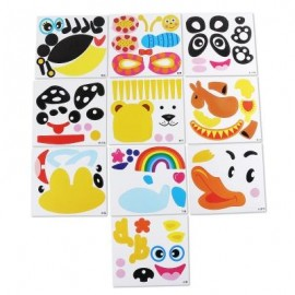 image of STICKY PAPER PLATE PAINTING HANDMADE TOY FOR CHILDREN (COLORFUL) -
