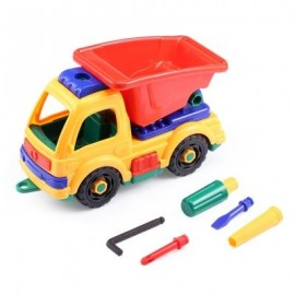 image of KIDS PLASTIC DIY CARTOON CONSTRUCTION TRUCK VEHICLE (COLORMIX) -