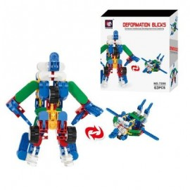 image of CHILDREN ROBOT BUILDING BLOCKS AND SOUPTOYS (COLORMIX) 0