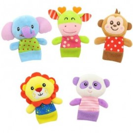 image of 5 PCS BABY FINGER PUPPETS SET CUTE ANIMALS BABY CALM TOYS (COLORMIX) 20CM / 7.9 INCH