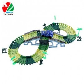 image of YALONGFA NO.358 96PCS RACE TRACK ASSEMBLY (ARMY GREEN) 0