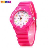image of SKMEI 1043 CHILDREN QUARTZ WATCH PU STRAP WRISTWATCH 50M WATER RESISTANCE FOR KID (ROSE) 0