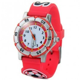image of QUARTZ WATCH 3D FOOTBALL WATCH BAND FOR CHILDREN (PINK) 0