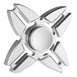 image of FOUR-POINTED STAR GYRO STRESS RELIEVER PRESSURE REDUCING TOY FOR OFFICE WORKER (SILVER) -