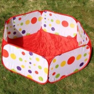 image of 1.2M FOLDABLE OCEAN BALL PIT POOL HOLDER KID BABY PLAY TOY TENT PLAYHUT (COLORMIX) -